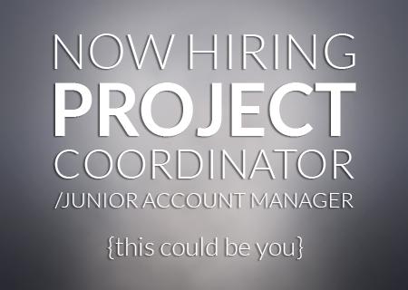 now hiring project coordinator