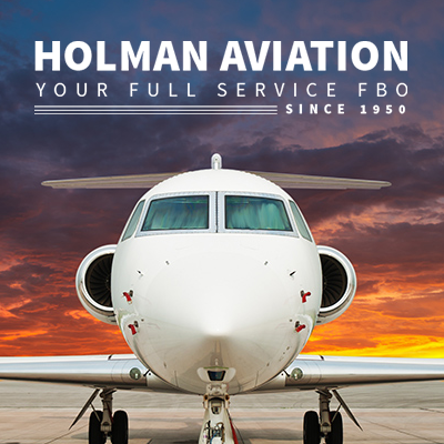 Holman Aviation Website Design by The Wendt Agency