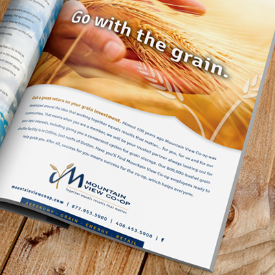 Mountain View Coop Print Ad by The Wendt Agency