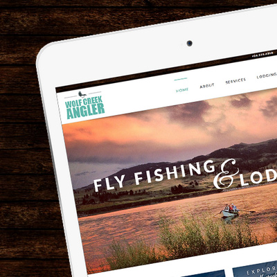 Wolf Creek Angler Website Design and Development by The Wendt Agency