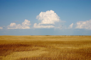 Clouds over the prairie