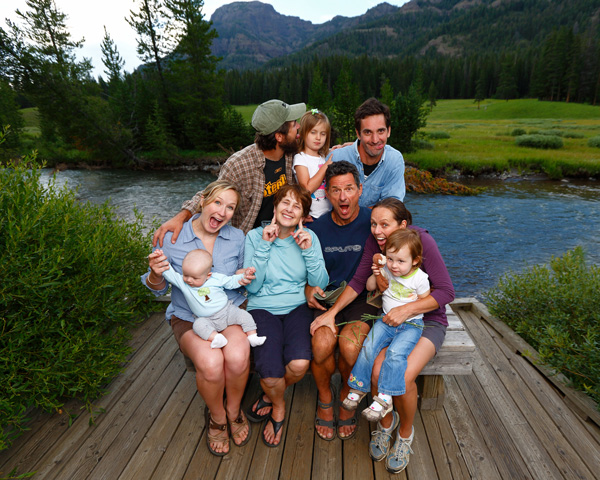 Family in Yellowstone National Park