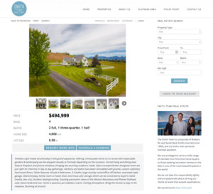 Smith Team Website Property Listing