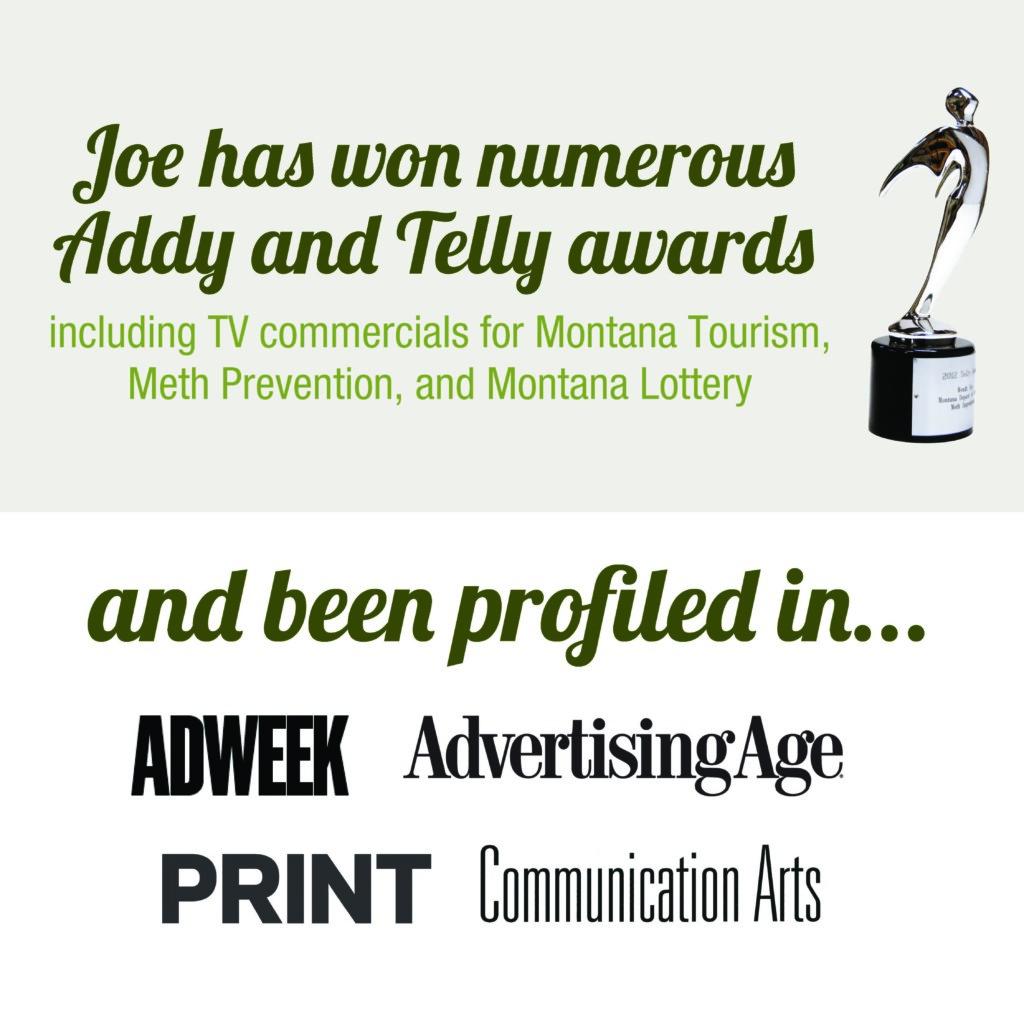 Creative Director Joe Stein awards