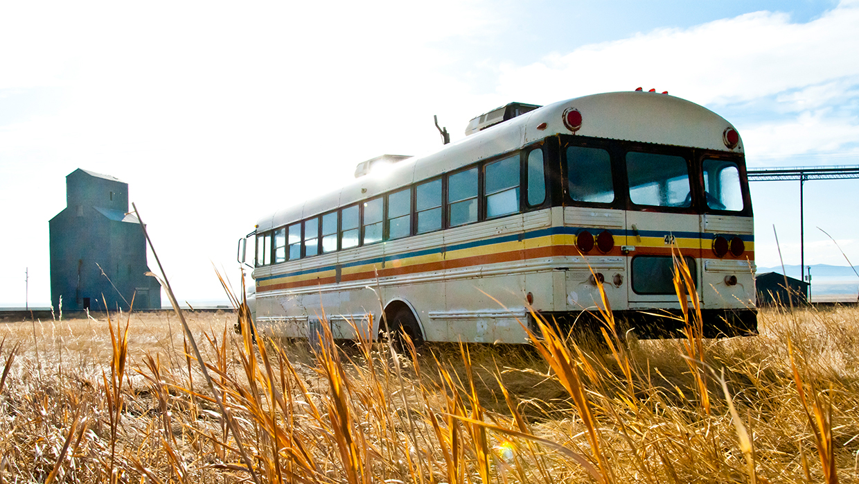 bus outside of carter