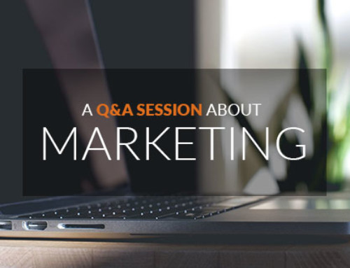 A Q&A session about marketing