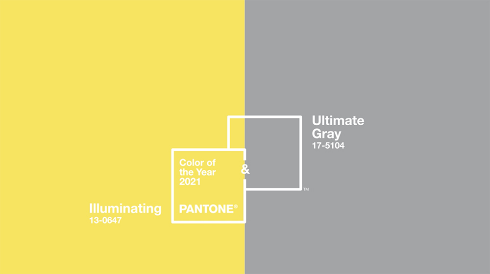 The colors of Pantone's Pick for Color of the Year 2021