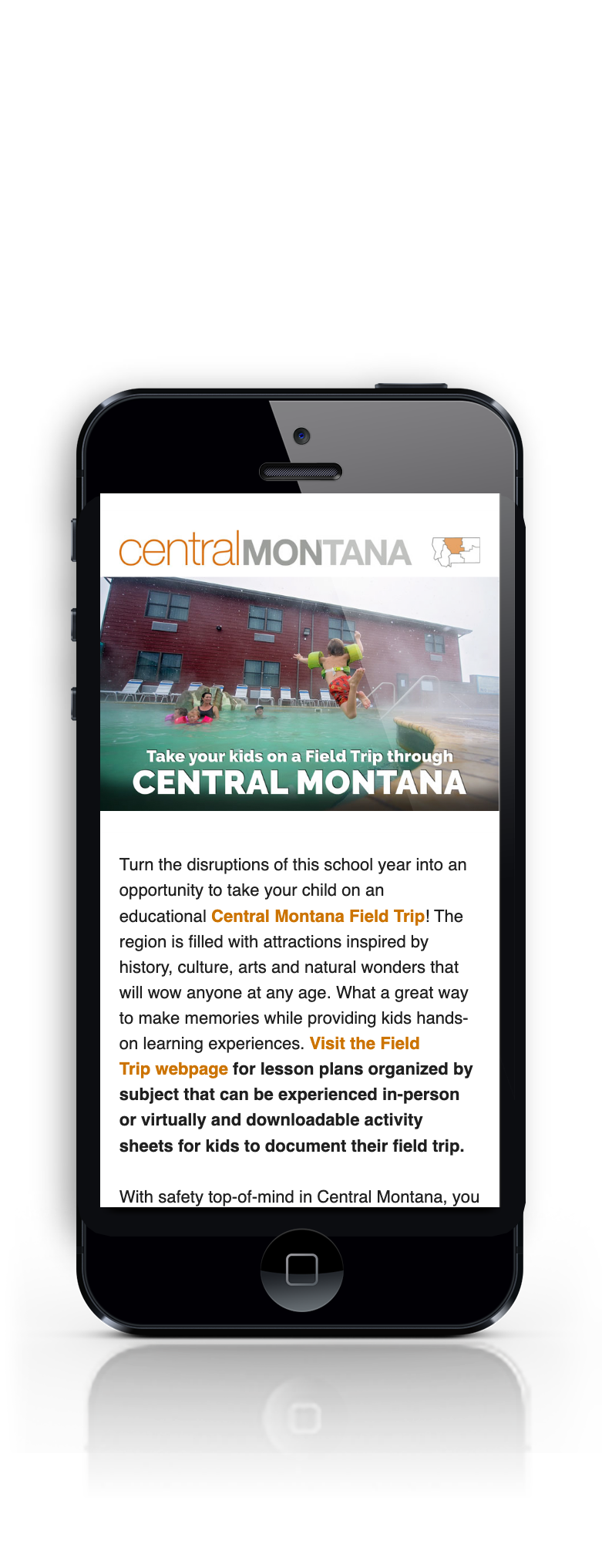 Central Montana html on a phone