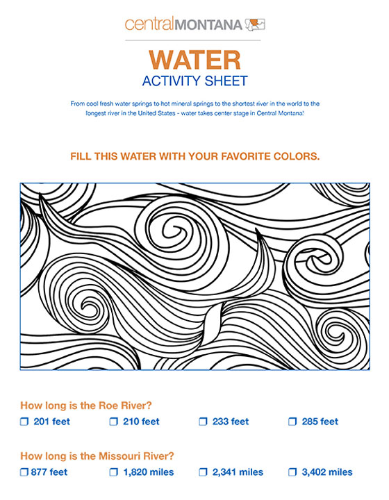 Water activity sheet