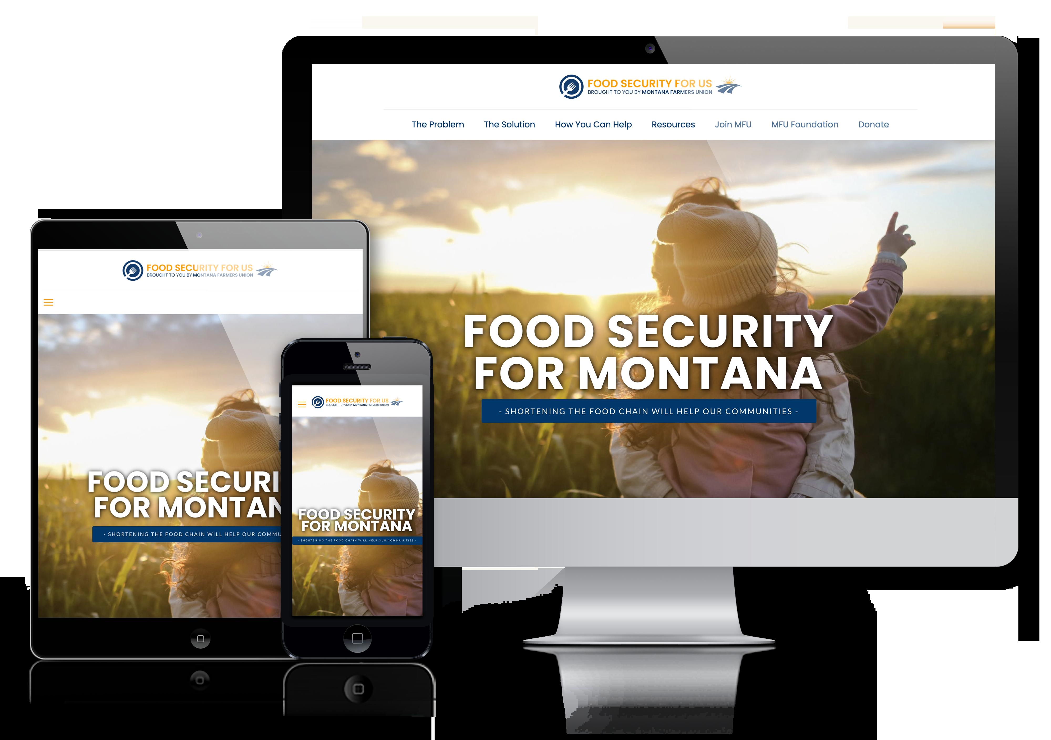 MFU Food Security for Us mobile responsive website design